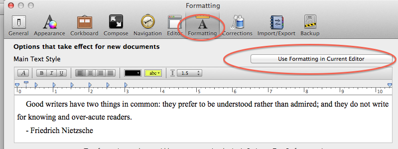 How to Change the Default Font and Line Spacing in Scrivener